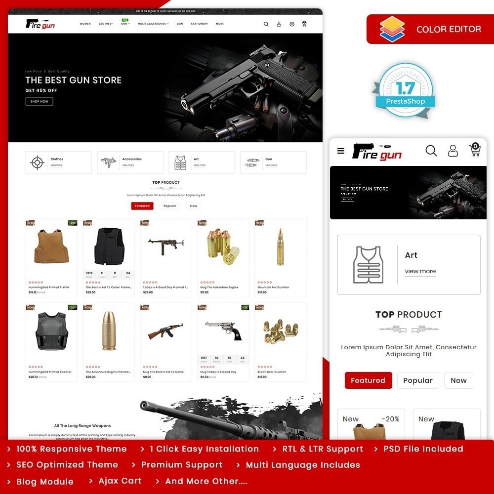 theme - Sports, Activities & Travel - Firegun - Gun & Weapons Store - 10