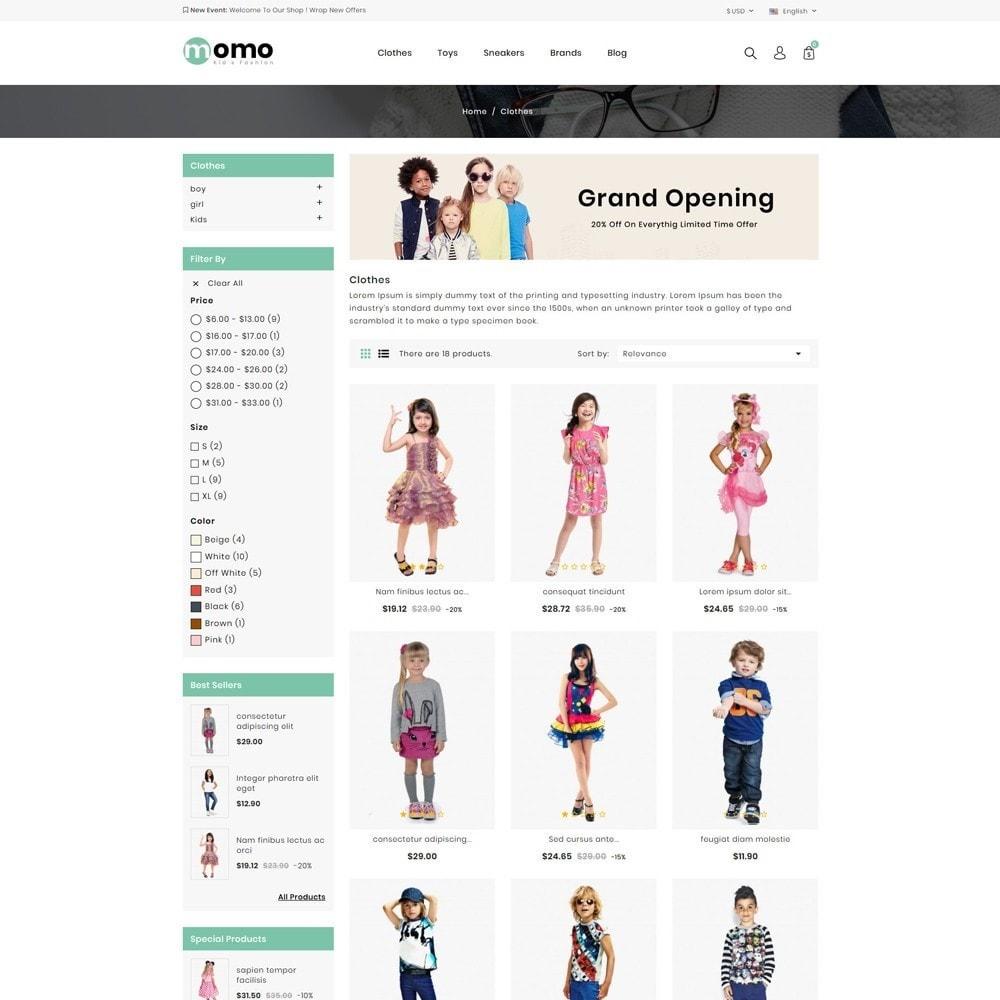 theme - Fashion & Shoes - Momo Kids Fashion Store - 3