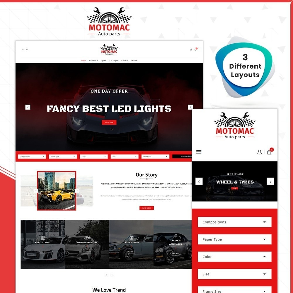 theme - Automotive & Cars - MotoMac Auto Part Store - 1