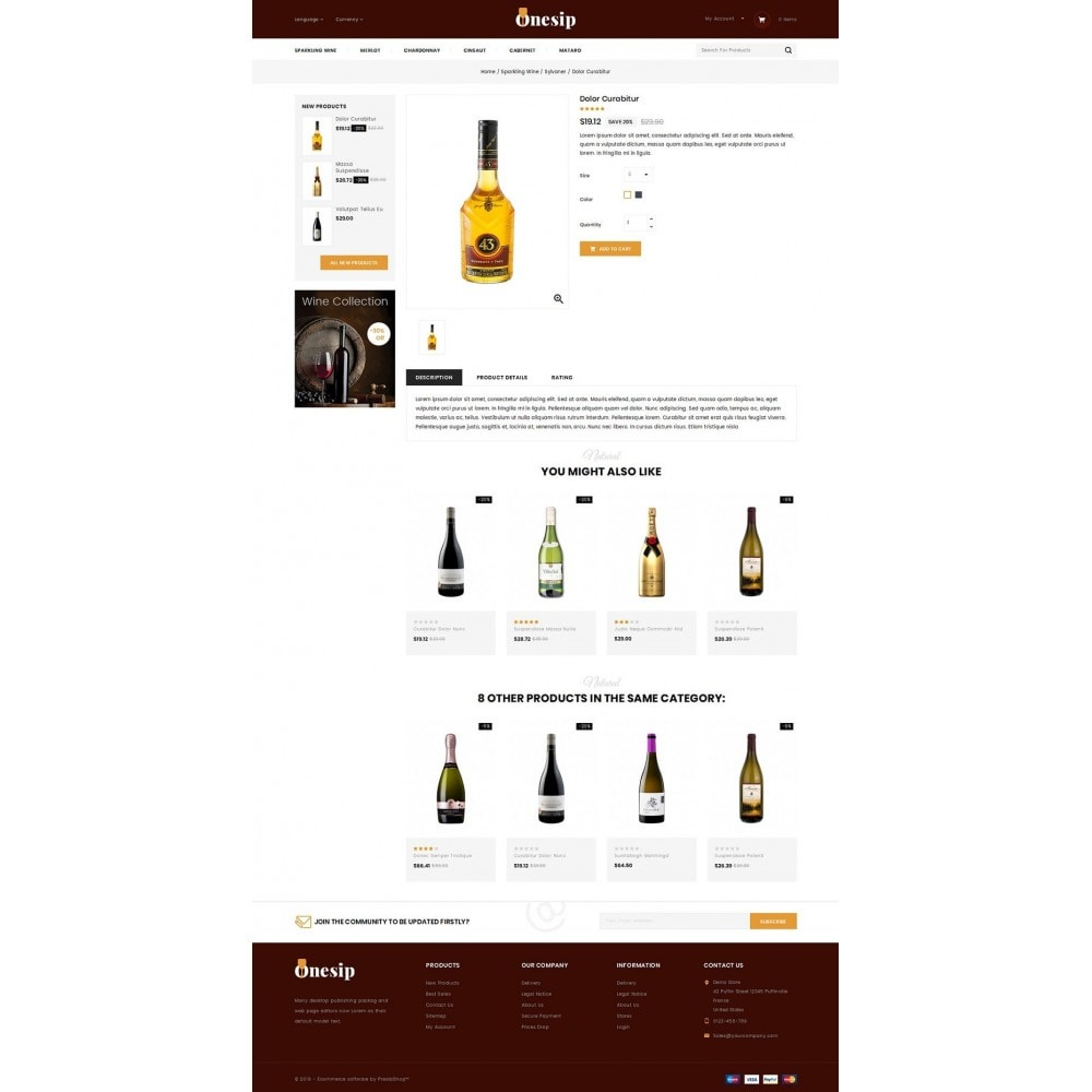 theme - Bebidas y Tabaco - Onesip  - Wine & Drink Shop - 4