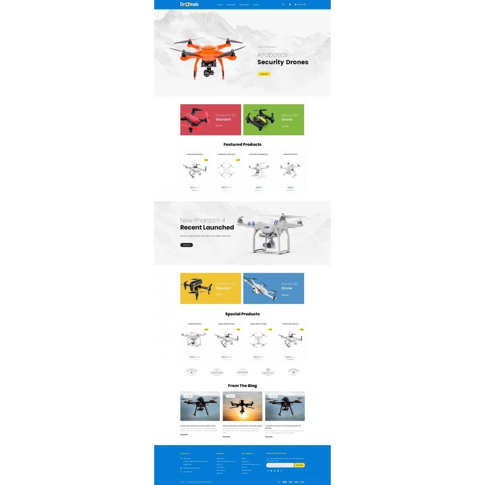 theme - Electronics & Computers - Dromek - Drone Camera Shop - 2
