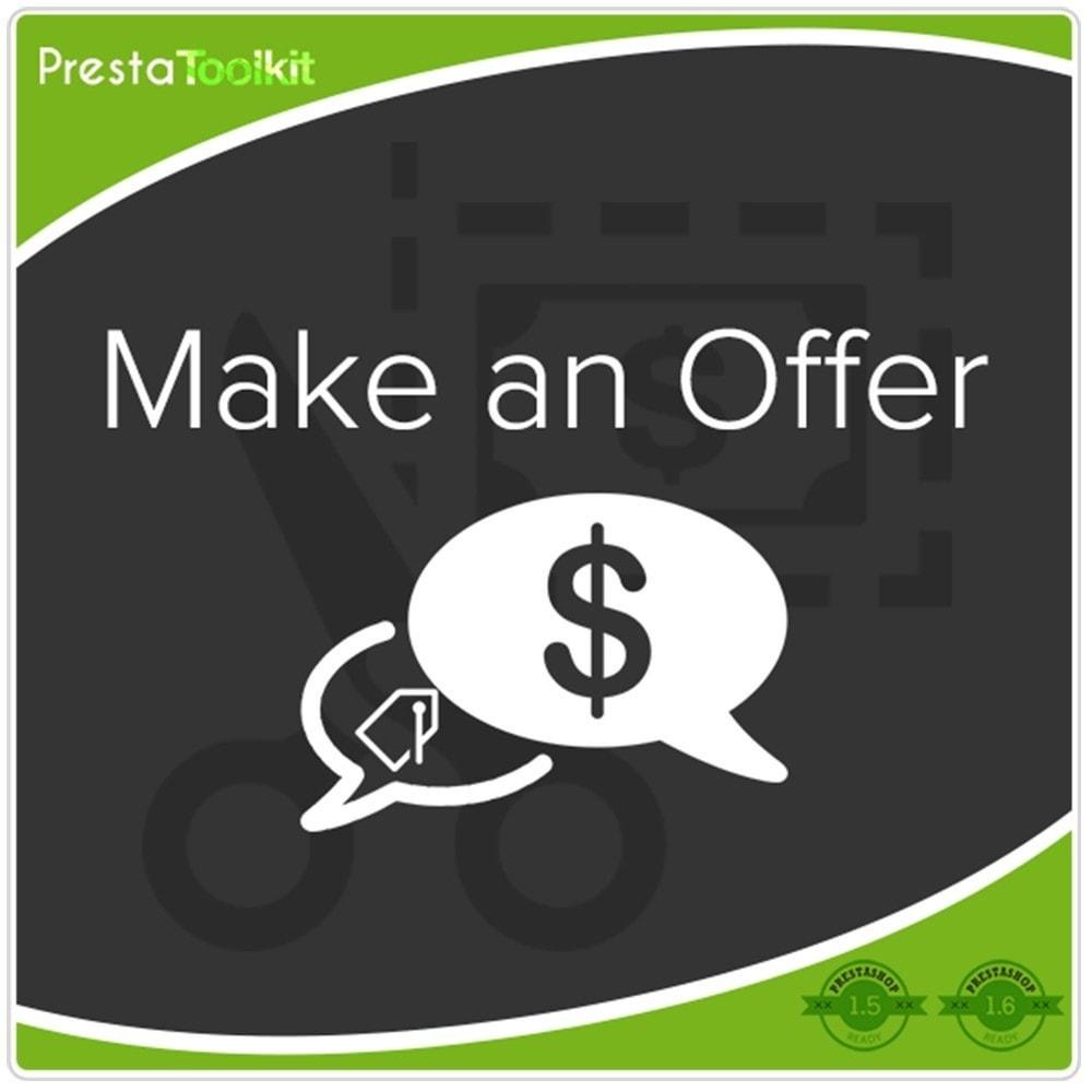 module - Gestão de preços - Fazer uma oferta - 1