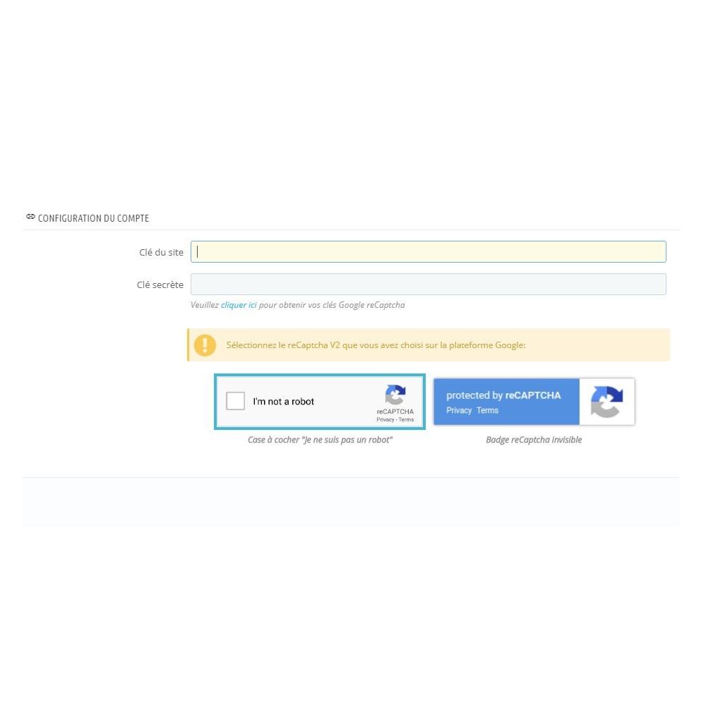 module - Sécurité & Accès - reCaptcha - Google Anti Spam - 3