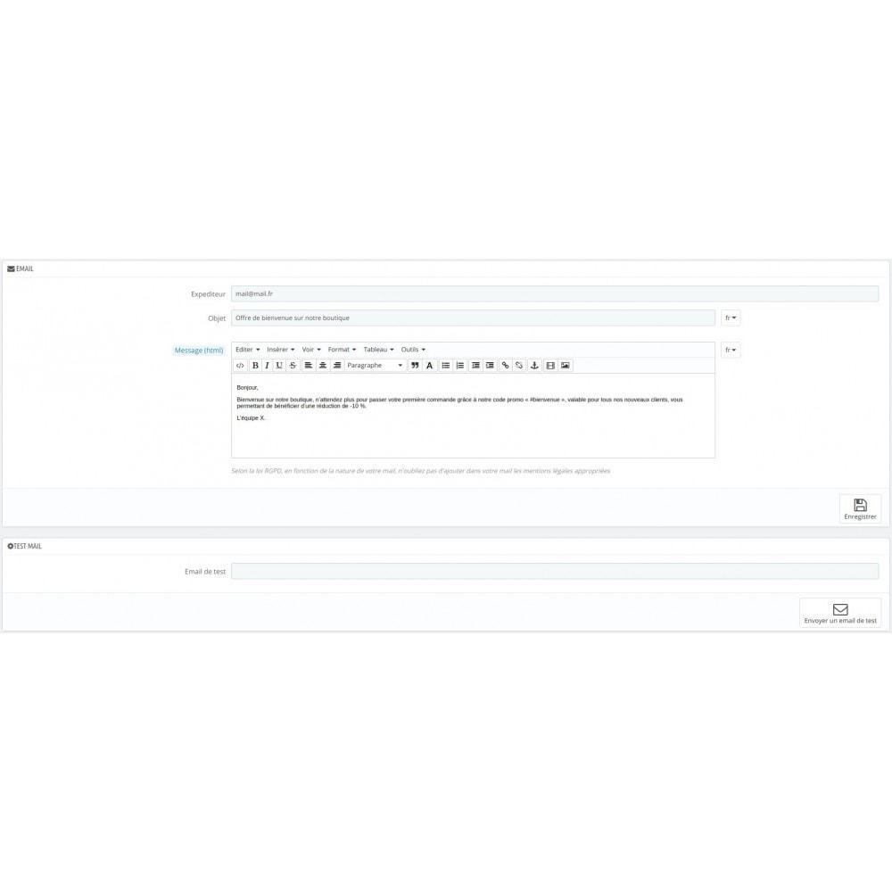 module - E-mails & Notifications - Envoi d'email automatique client - 2