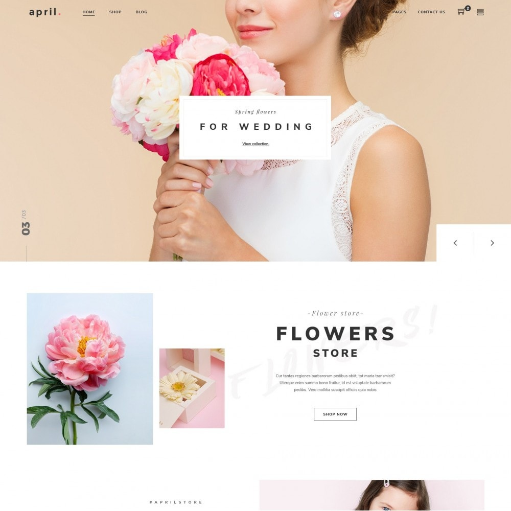 theme - Gifts, Flowers & Celebrations - Babi - Flower Shop Prestashop Theme - 1