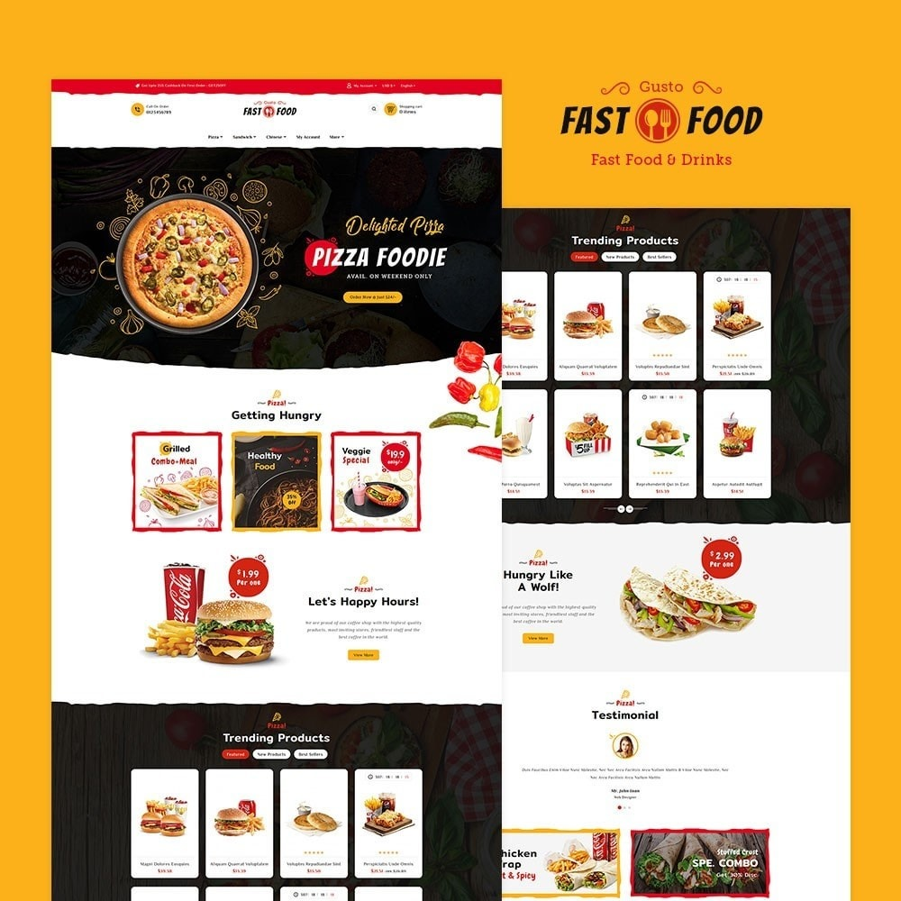 theme - Food & Restaurant - Fast Food & Drinks Corner - 2