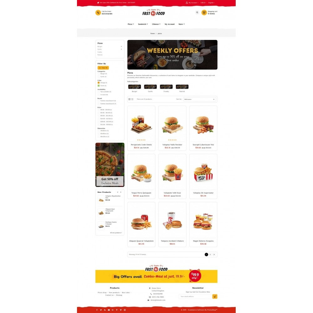 theme - Alimentation & Restauration - Fast Food & Drinks Corner - 3