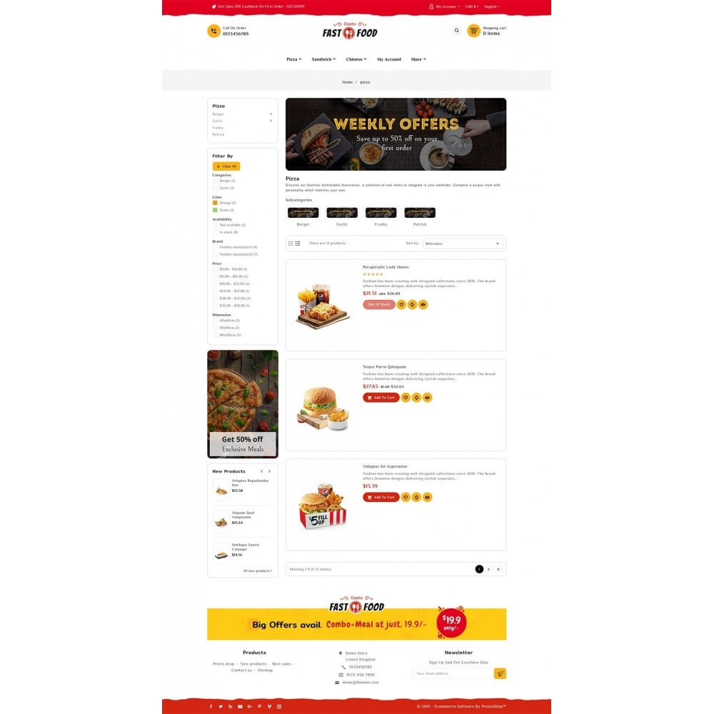 theme - Food & Restaurant - Fast Food & Drinks Corner - 4