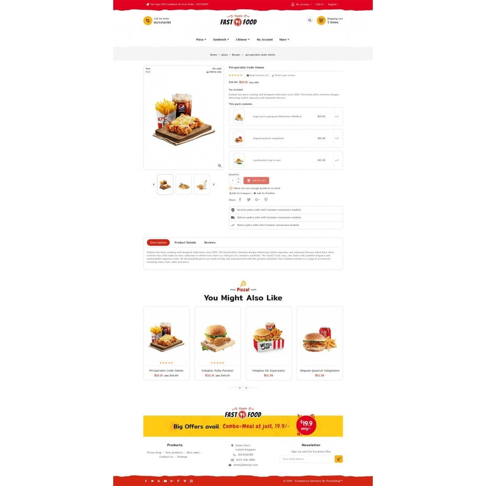 theme - Food & Restaurant - Fast Food & Drinks Corner - 5