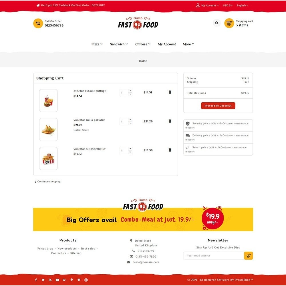 theme - Food & Restaurant - Fast Food & Drinks Corner - 6