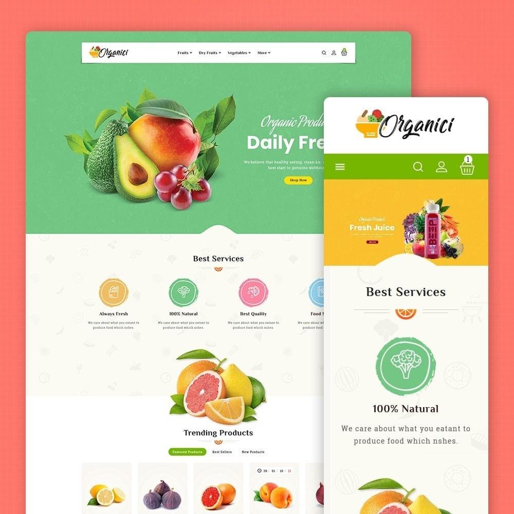 theme - Food & Restaurant - Organics - Vegetables & Fresh Fruits - 1