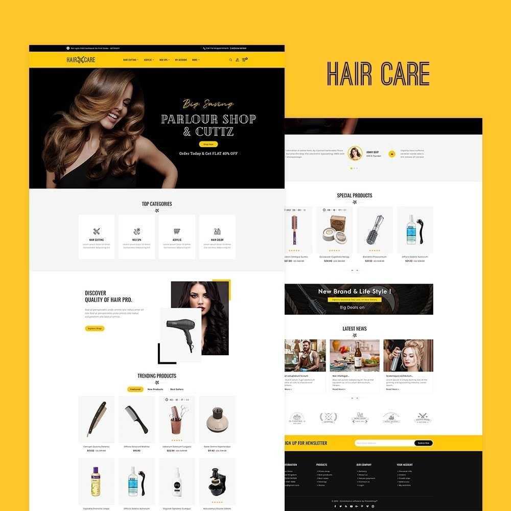theme - Santé & Beauté - Hair Care & Beauty salon - 2