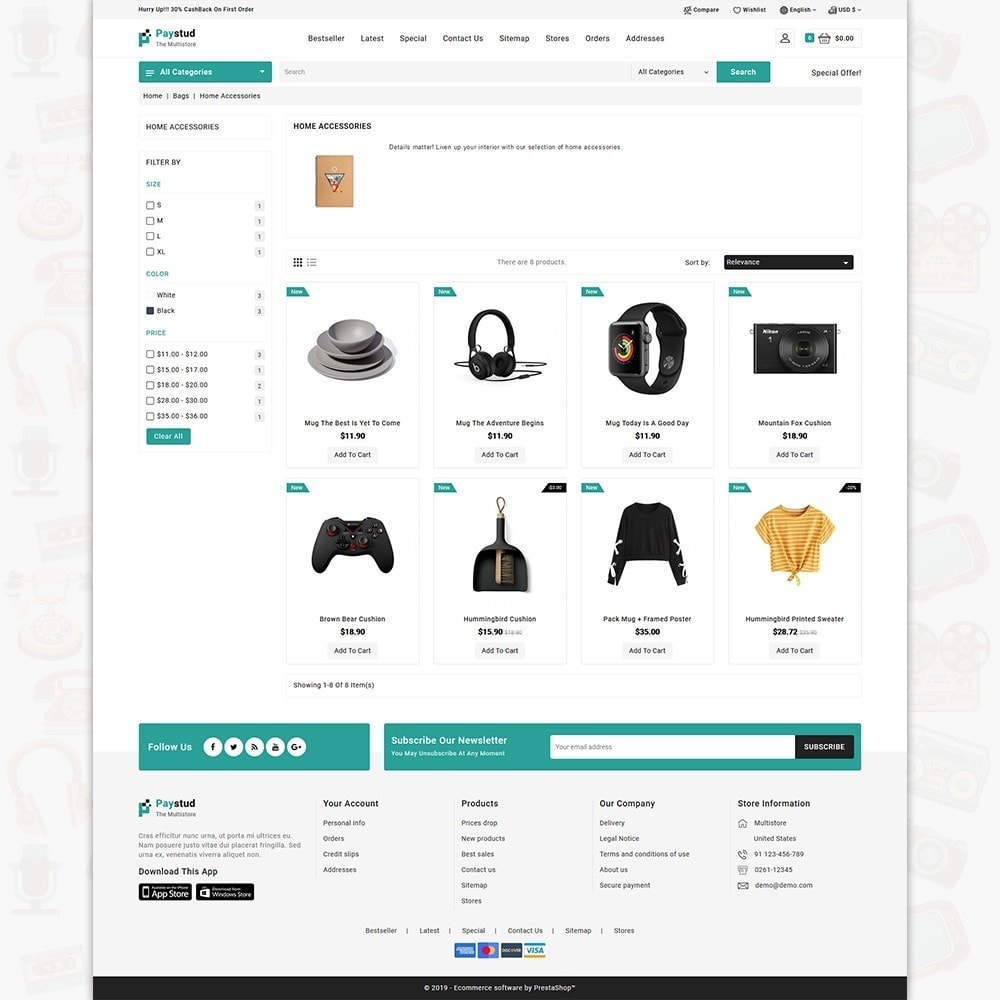 theme - Elettronica & High Tech - Paystud - The MultiStore Theme - 3