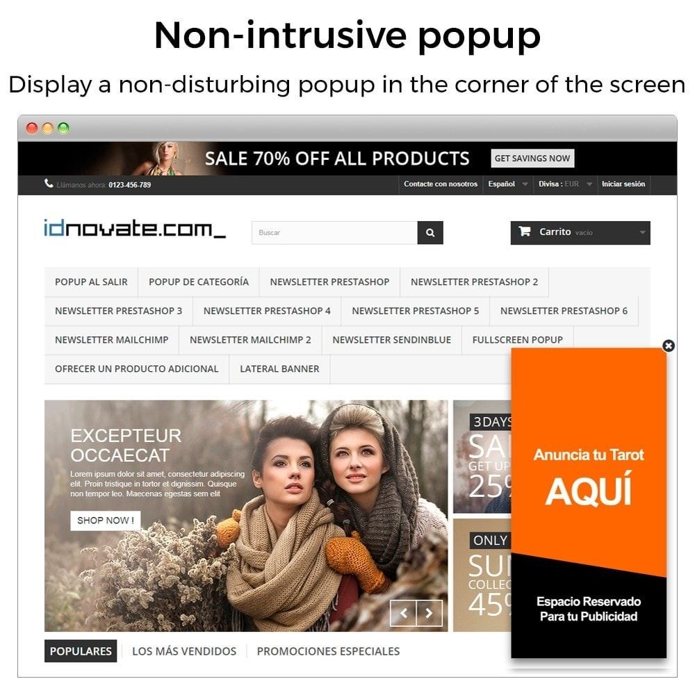 module - Pop-up - Popup when entering, leaving, add product, newsletter - 7