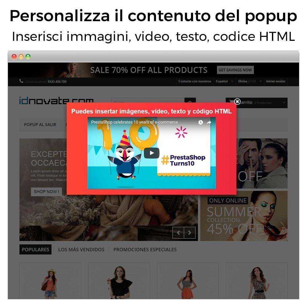 module - Pop-up - Popup in entrata, uscita, aggiunta prodotto, newsletter - 2