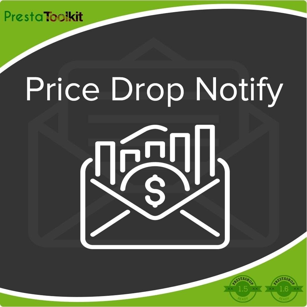 module - Email & Notifiche - Notifica di caduta dei prezzi, avvisi sui prodotti - 1