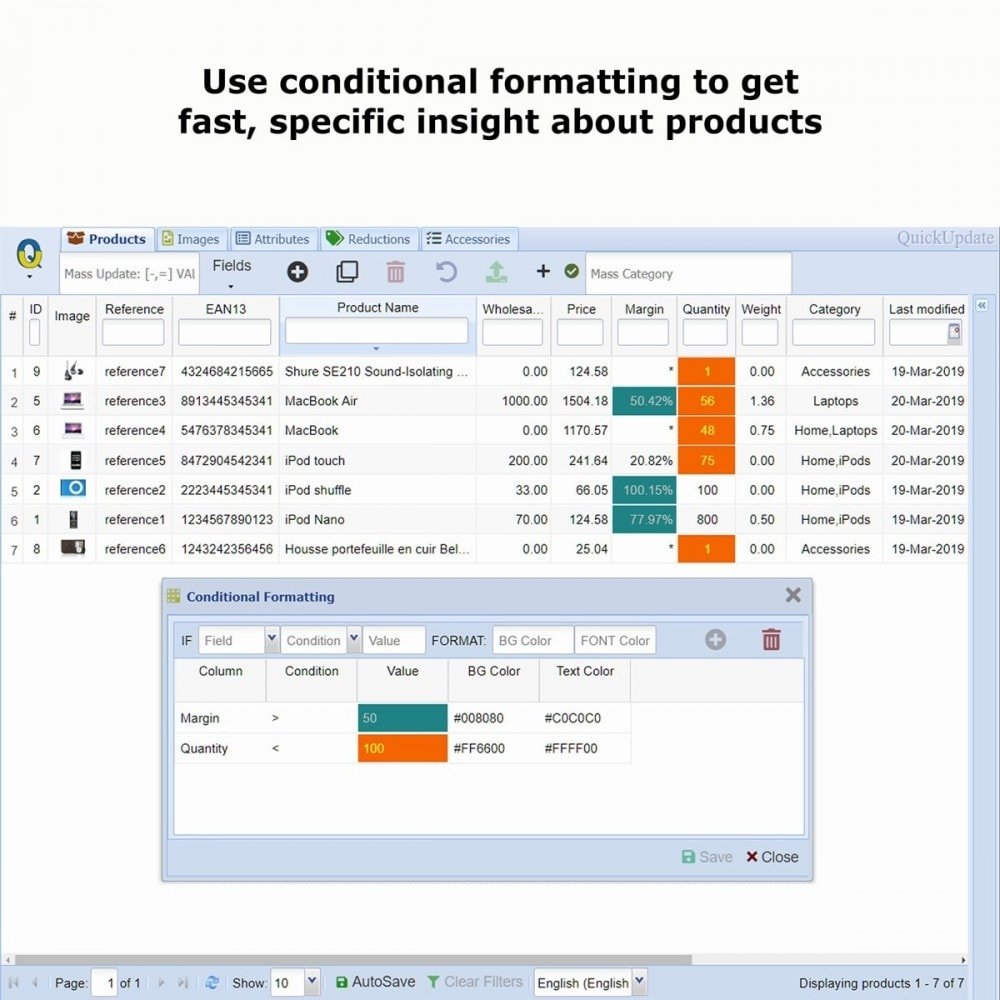 module - Szybkie & Masowe edytowanie - QuickUpdate Product Management - 3