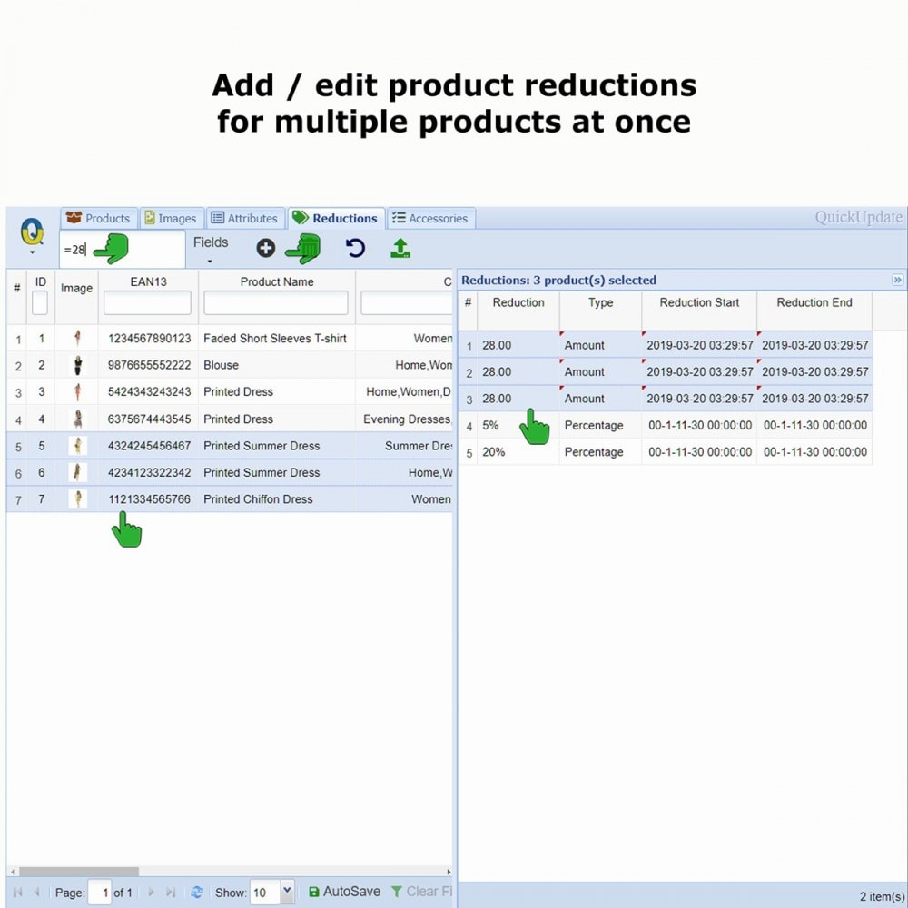 module - Szybkie & Masowe edytowanie - QuickUpdate Product Management - 7
