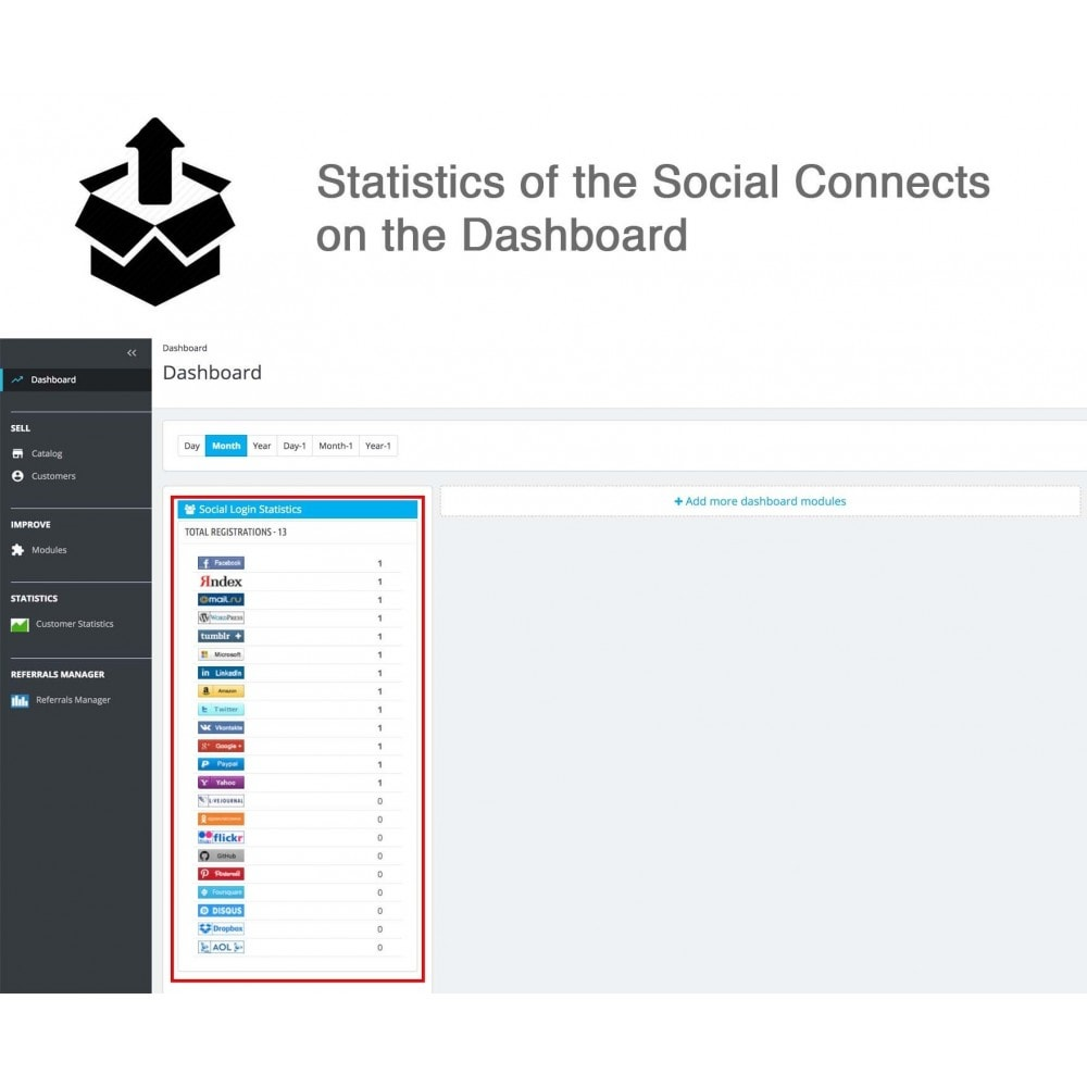 module - Inloggen - Social Pack: Connects, Referrals, Plugins (34 in 1) - 27
