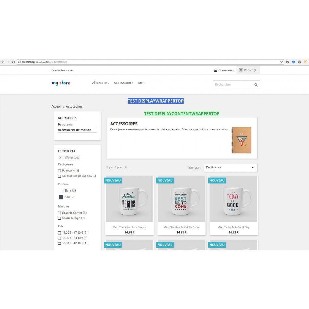 module - Outils d'administration - Bloc de contenu libre (CMS) multi-points d'accroche - 6
