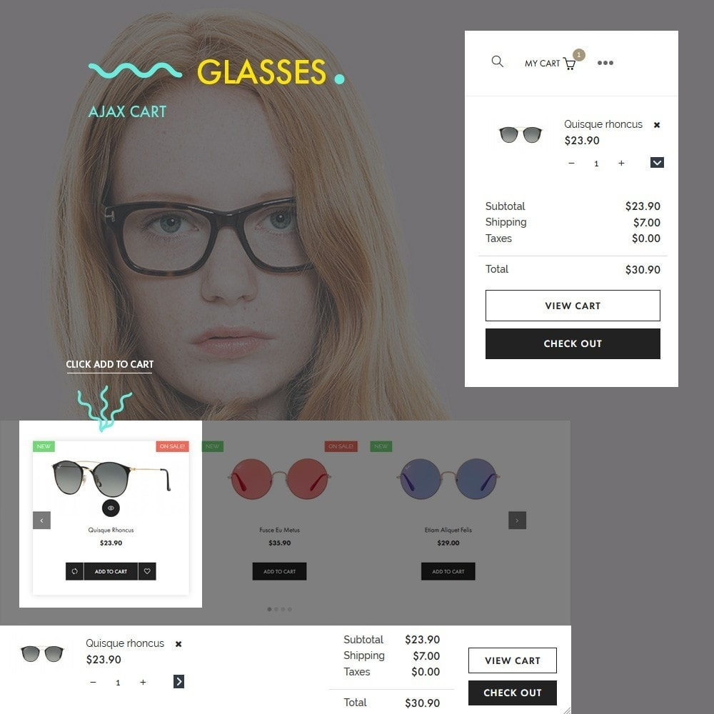 theme - Fashion & Shoes - Glasses - Fashion Store - 3