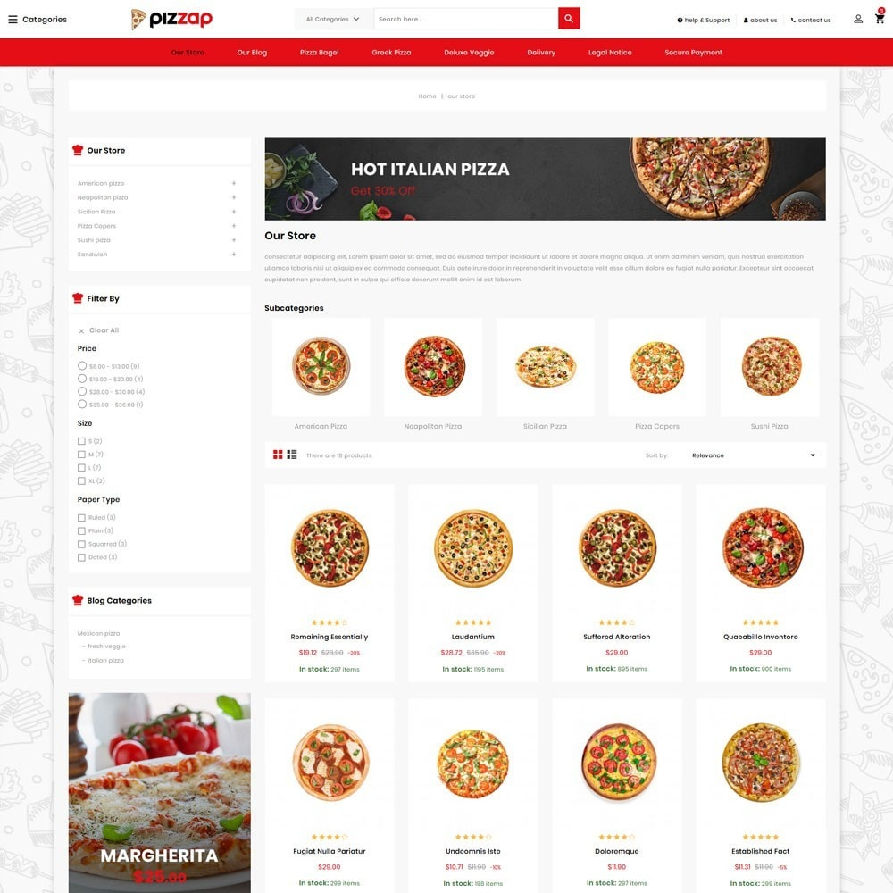 theme - Gastronomía y Restauración - Pizzap - The Fast Food Corner - 4