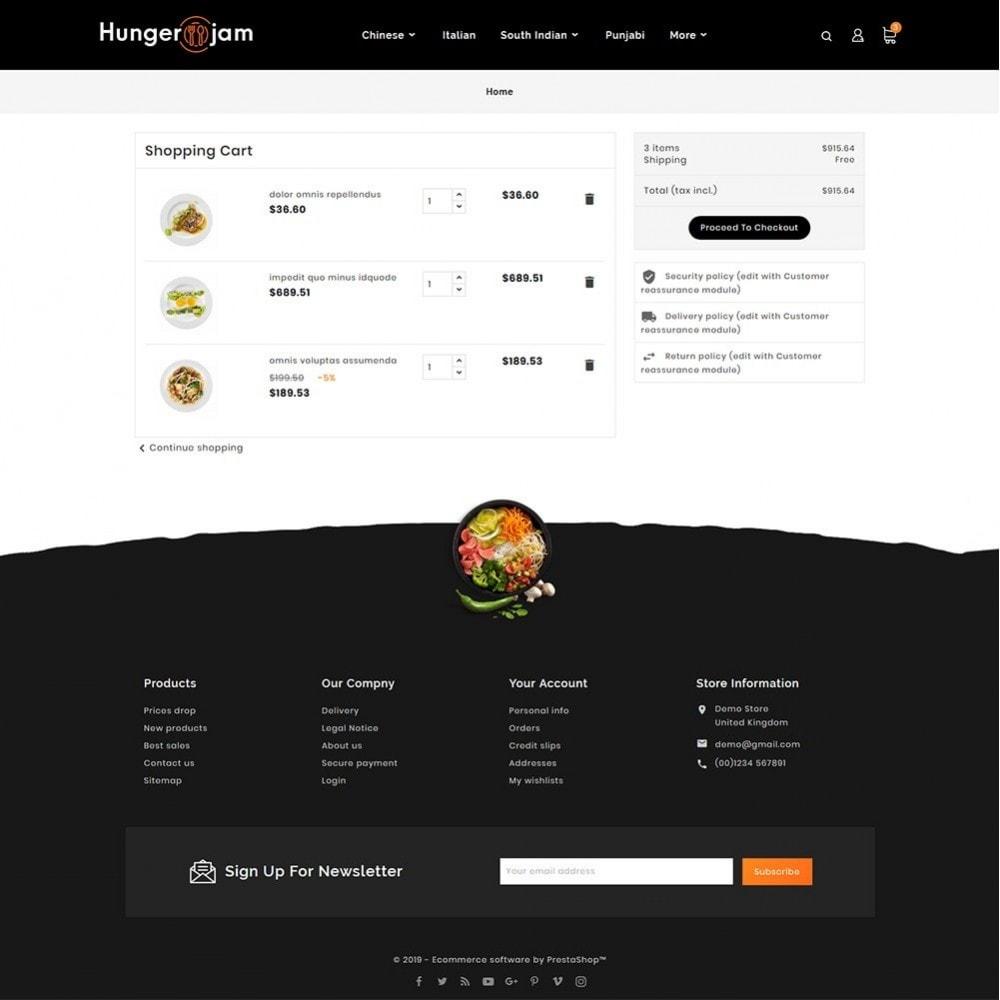 theme - Gastronomía y Restauración - Hunger Jam - Food & Dishes - 6
