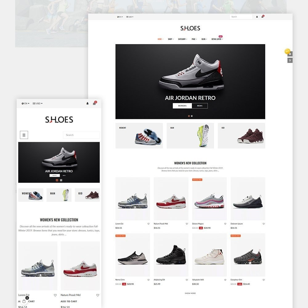theme - Mode & Chaussures - Shoes World Fashion Store - 1