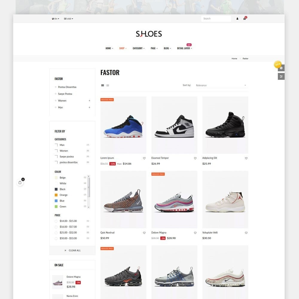 theme - Mode & Chaussures - Shoes World Fashion Store - 2