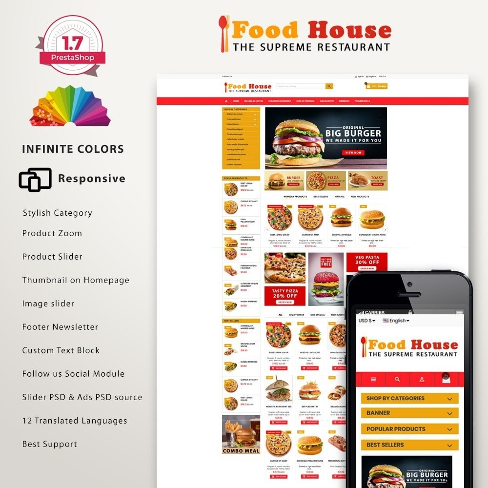 theme - Alimentos & Restaurantes - New Food House - Restaurant premium - 2