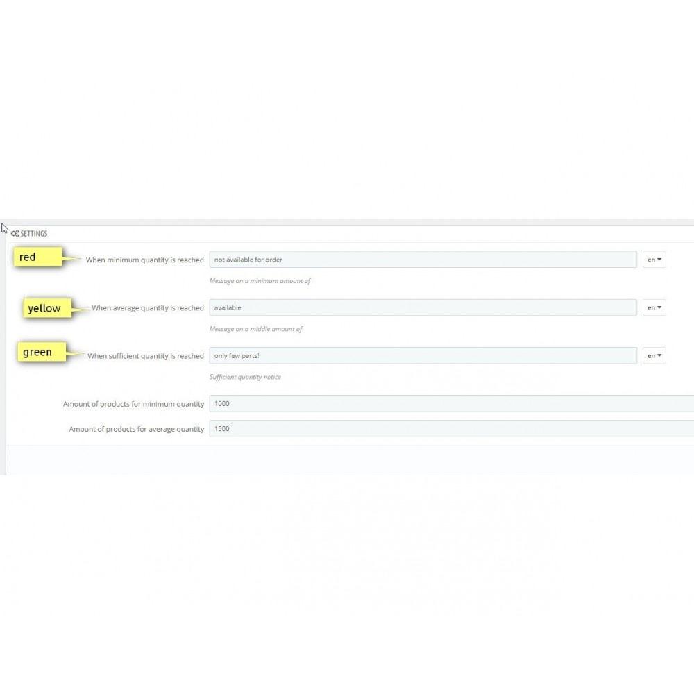 module - Informaciones adicionales y Pestañas - Traffic light function - Product availability - 4