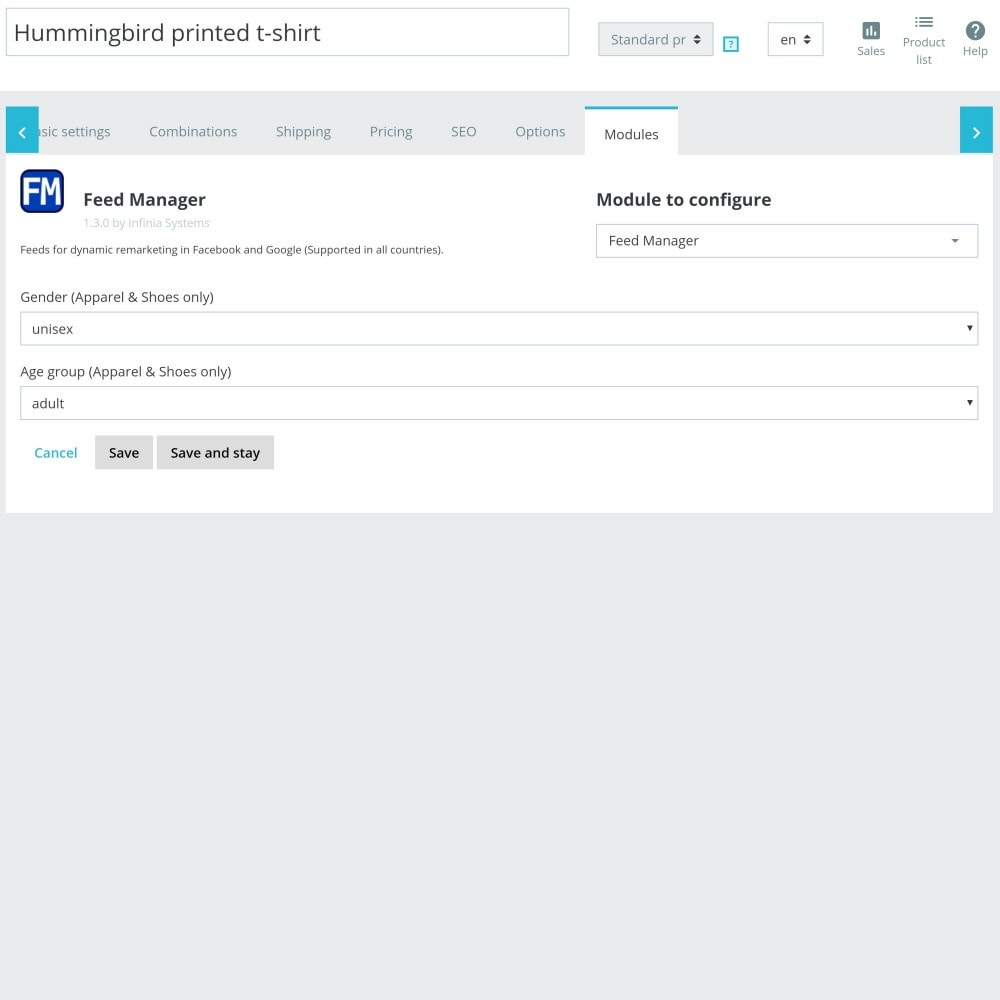 module - Betaalde vermelding & Lidmaatschap - Feed Manager Pro (Product feeds for all platforms) - 8