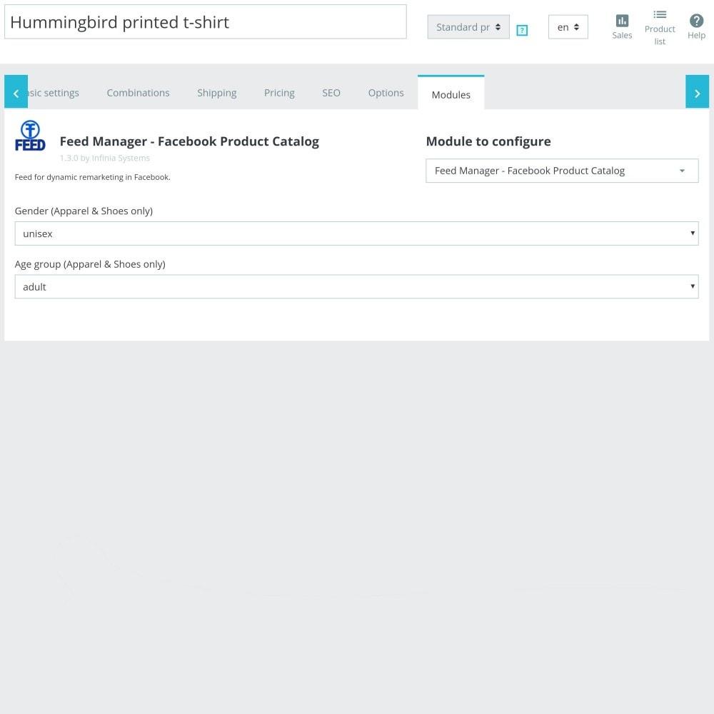 module - Produkte in Facebook & sozialen Netzwerken - Social Network Product Catalog XML Feed (Feed Manager) - 7
