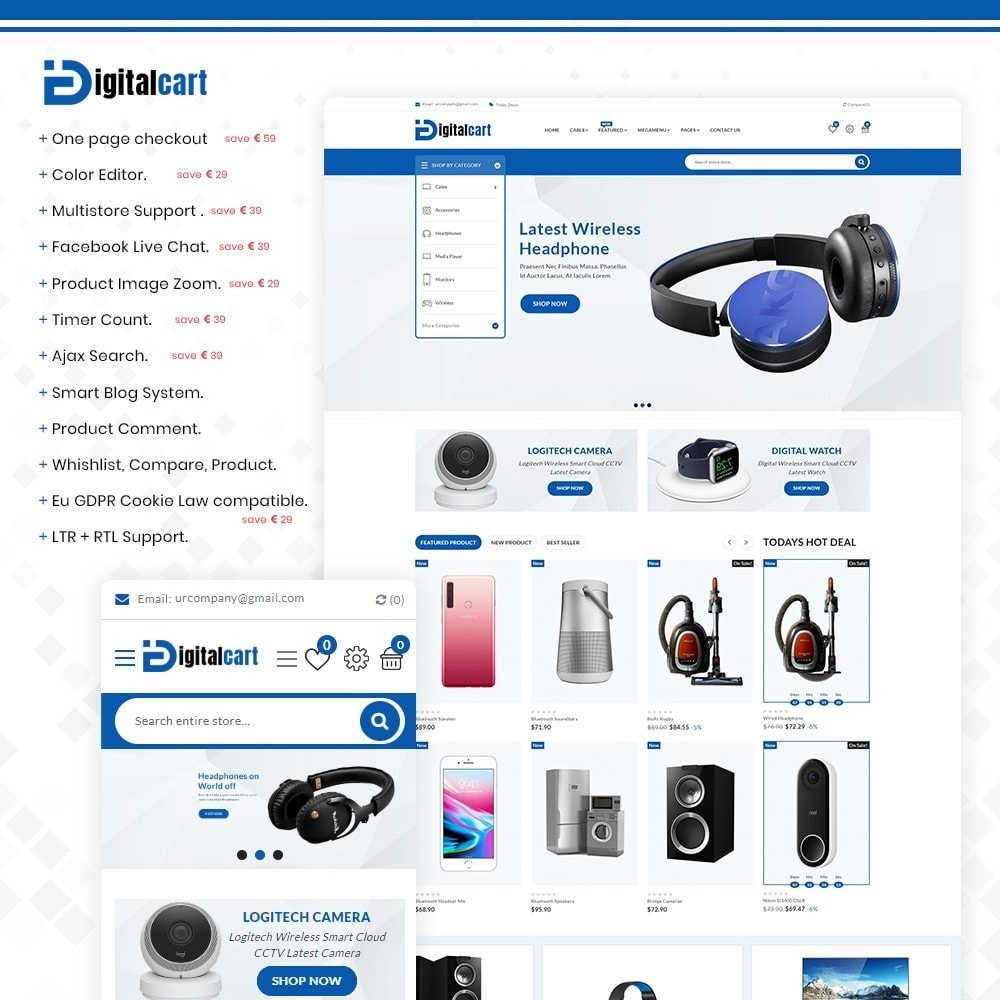 theme - Elektronik & High Tech - Digitalcart - Multipurpose Mega Electronics Store - 1