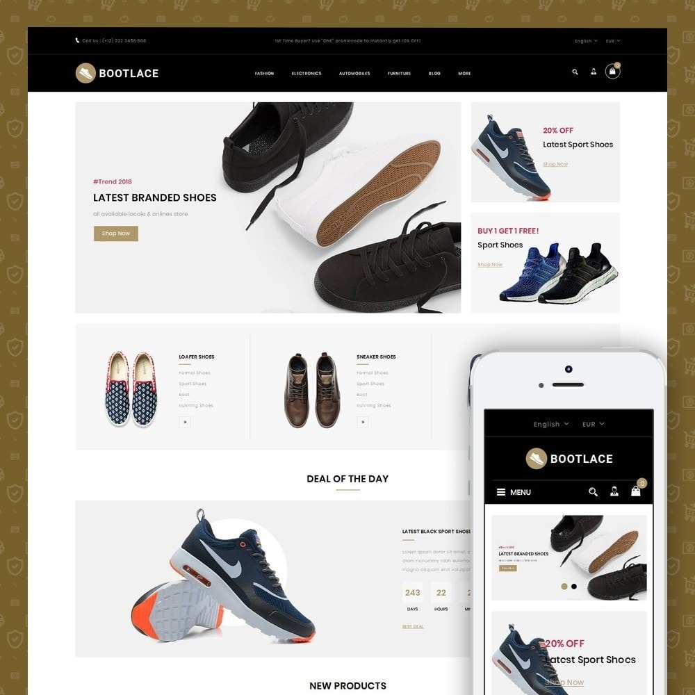theme - Mode & Schoenen - Bootlace  - Shoes Store - 1