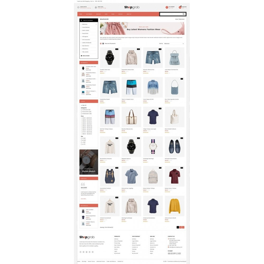 theme - Мода и обувь - Shopgrab - Multipurpose Store - 3