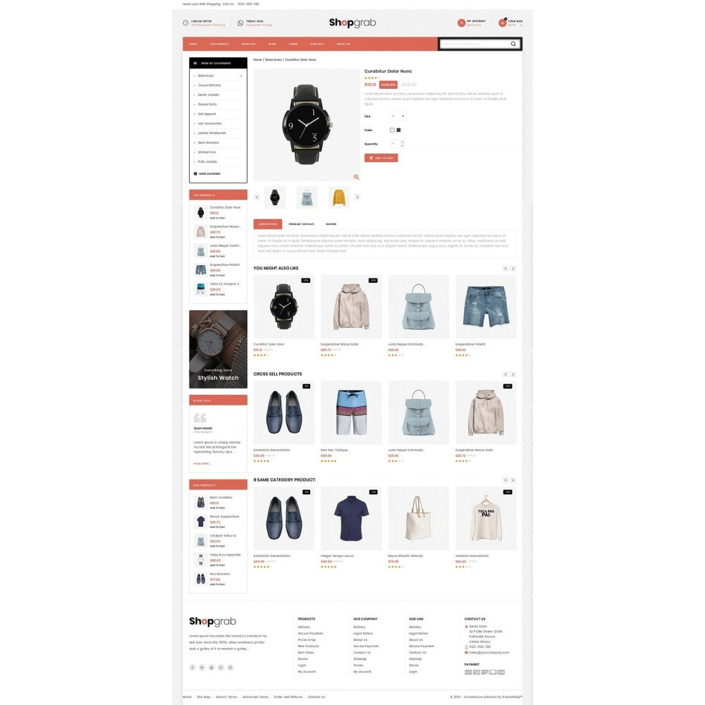 theme - Fashion & Shoes - Shopgrab - Multipurpose Store - 4