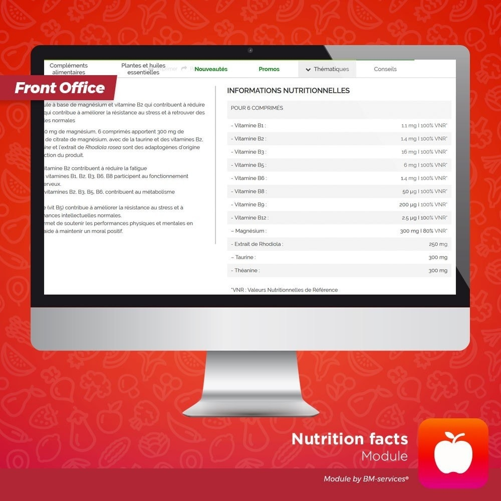 module - Food & Restaurants - Nutrition facts - 3