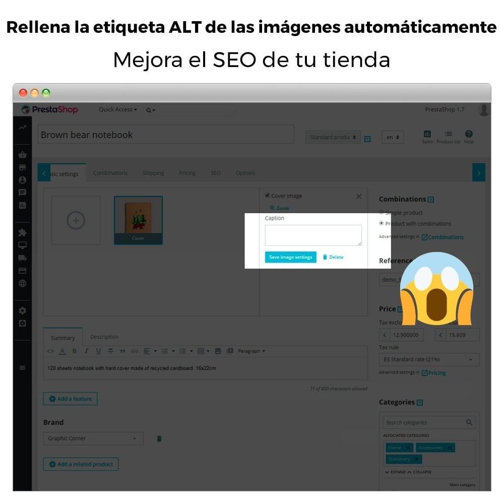 module - SEO (Posicionamiento en buscadores) - Imagen SEO - Etiqueta automática de imagen ALT - 2
