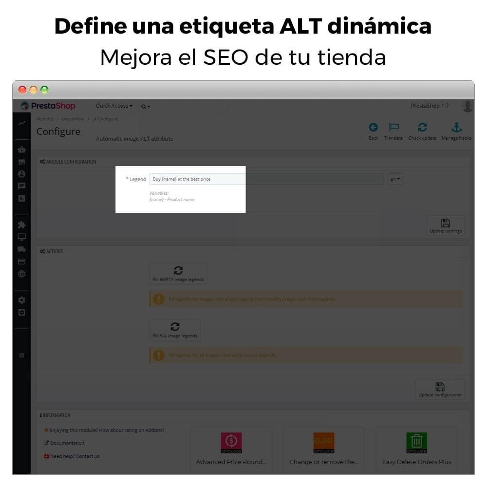 module - SEO (Posicionamiento en buscadores) - Imagen SEO - Etiqueta automática de imagen ALT - 4