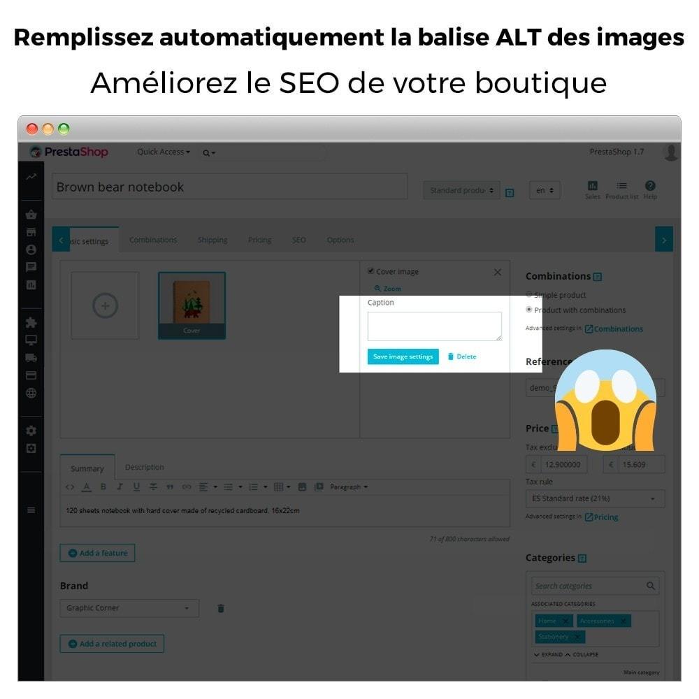 module - SEO (référencement naturel) - Image SEO - Balise d'image automatique ALT - 2