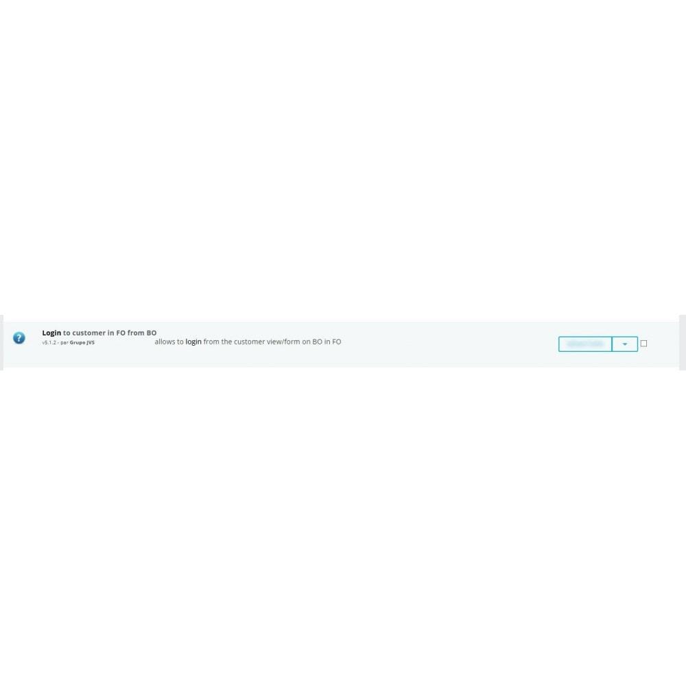 module - Kundenservice - Back Office customer login - 1