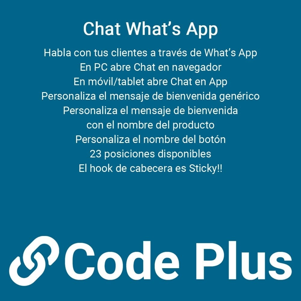 module - Asistencia & Chat online - Chatea con tus clientes a través del chat de What's App - 1