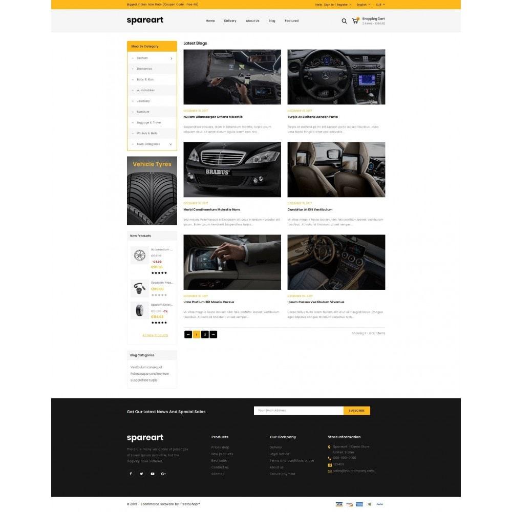 theme - Samochody - Sparearts - Automobile Store - 9