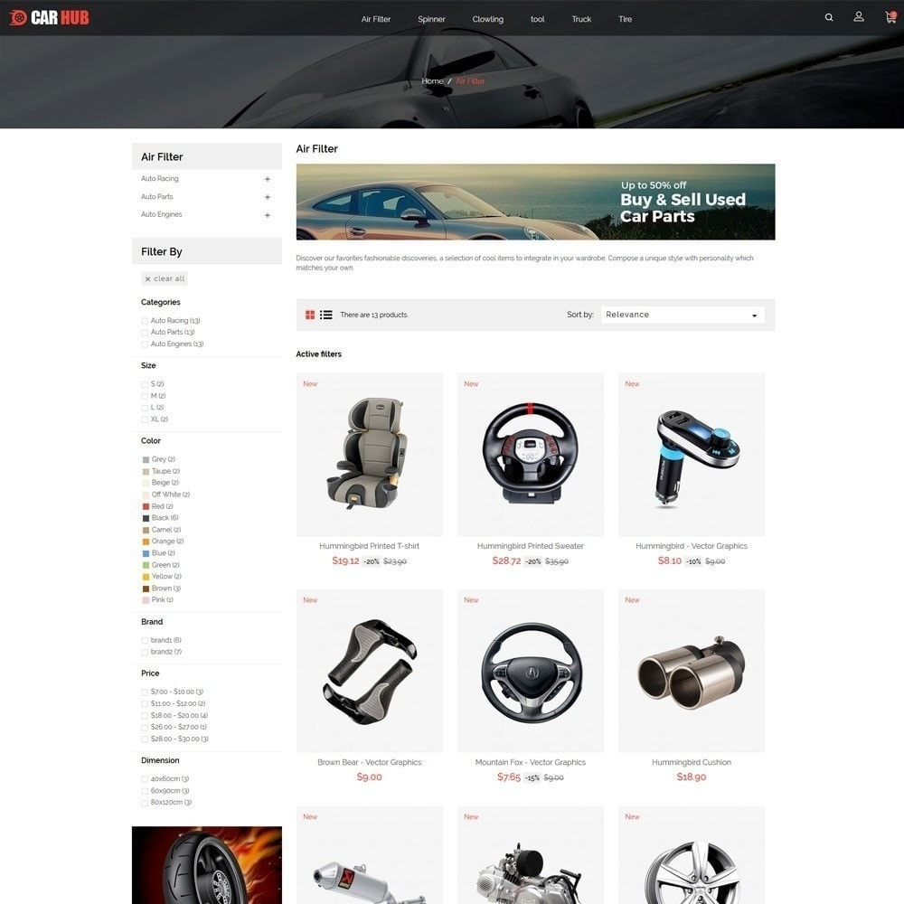 theme - Auto & Moto - Magasin de voitures - 2
