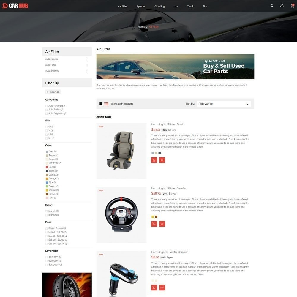 theme - Auto & Moto - Magasin de voitures - 4