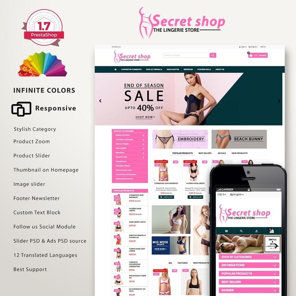 theme - Lingerie & Volwassenen - Secretshop - Lingerie premium template - 2