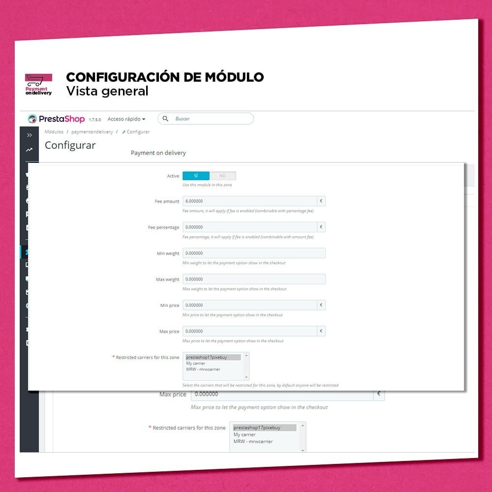 module - Pago a la Entrega (contrarrembolso) - Pago contra reembolso con comisión - 7