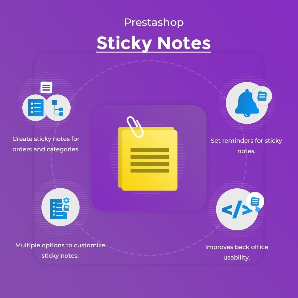 module - E-mails & Notícias - Sticky Notes | Create Task Reminders - 1