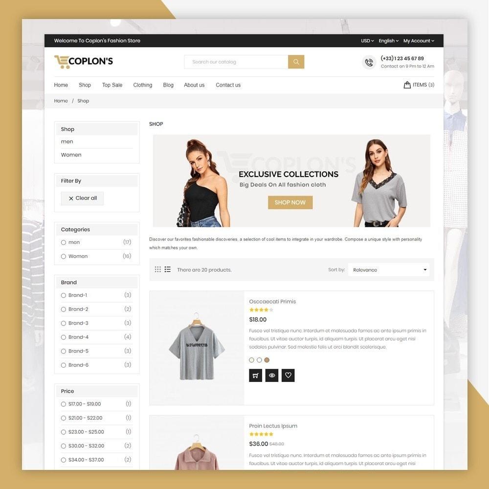theme - Fashion & Shoes - Coplons Fashion Store - 6